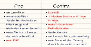 Zufall oder Schicksal, eine Pro und Contra Liste